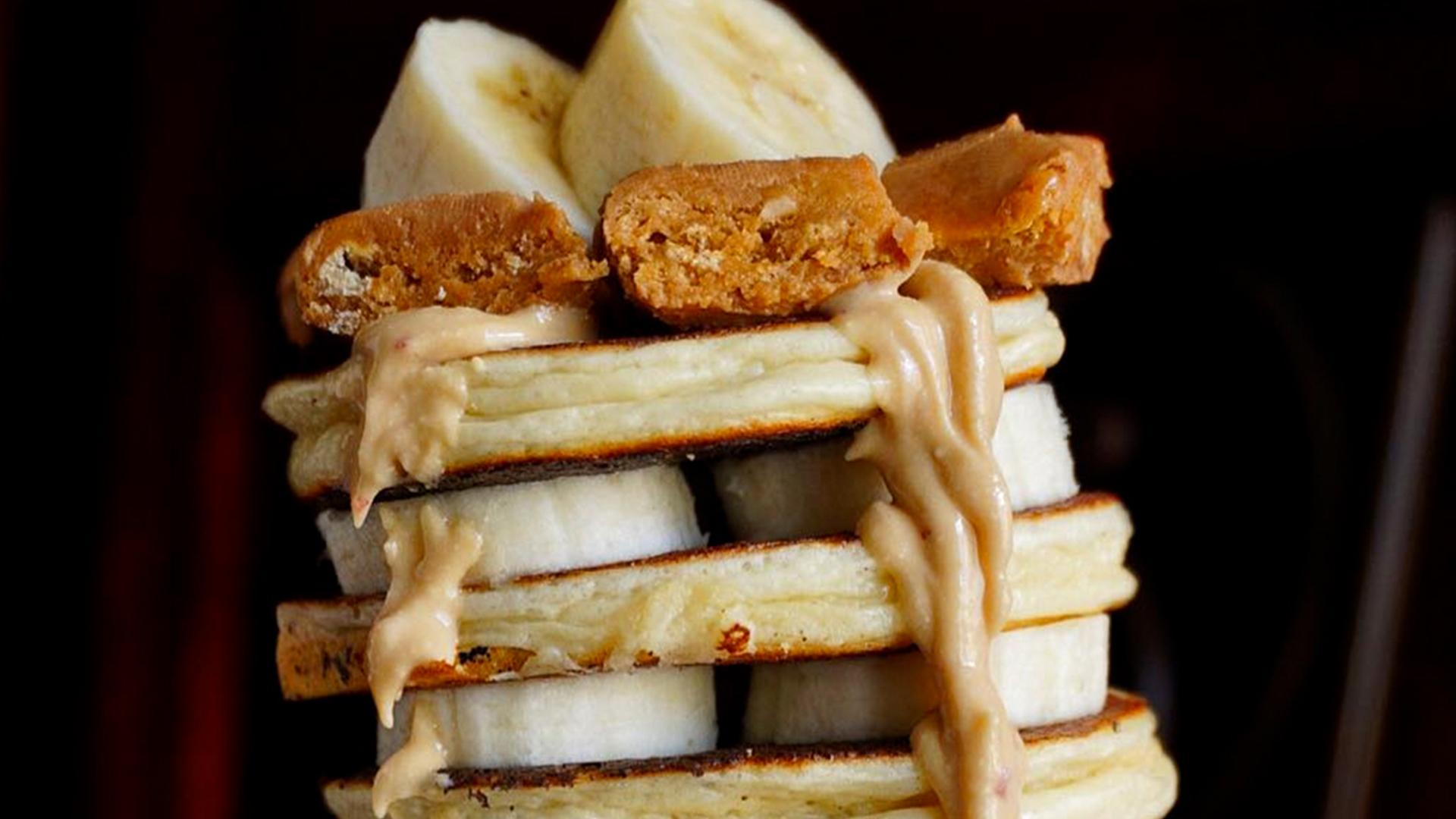 Dymatize Banana Peanut Butter Protein Pancakes